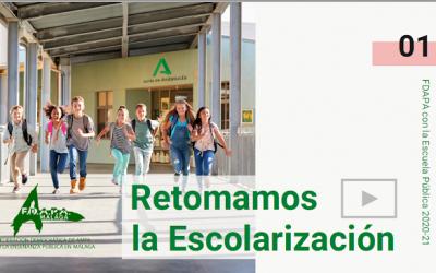 Retomamos la escolarización curso 2020/2021