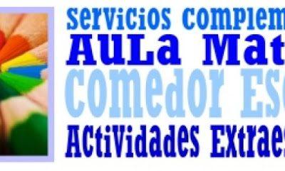 LISTADO DEFINITIVO DE ADMITIDOS/AS Y SUPLENTES EN AULA MATINAL, COMEDOR Y ACTIVIDADES EXTRAESCOLARES