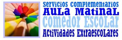 ADJUDICACIÓN DEFINITIVA DE SOLICITUDES AULA MATINAL,  COMEDOR Y ACTIVIDADES EXTRAESCOLARES PARA EL CURSO 2021/2022